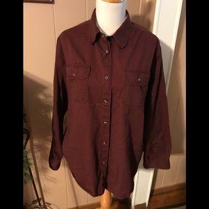 Men's Wrangler Heavy Shirt Two Front Pockets Sz XL